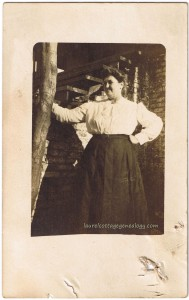 Woman at Cabin pc1