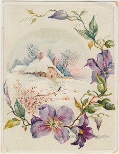 Winter Cottage With Clematis