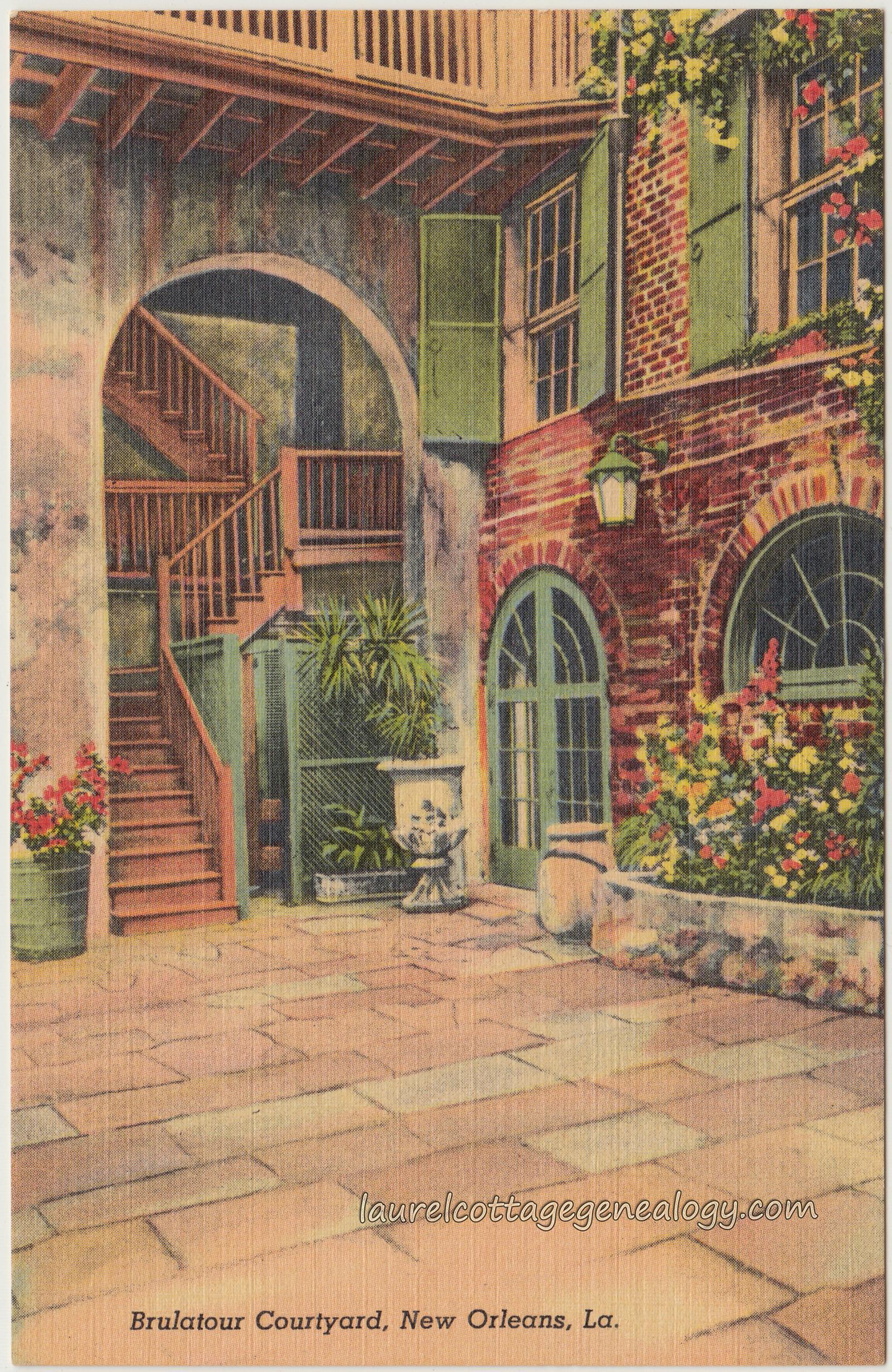Brulatour Courtyard New Orleans Louisiana Laurel