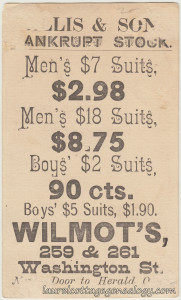 Wilmots Clothing Trade Crd tc2