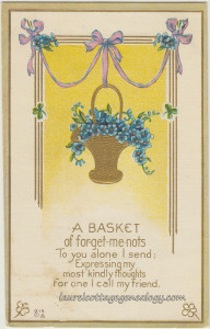 Basket of Forget Me Nots pc1