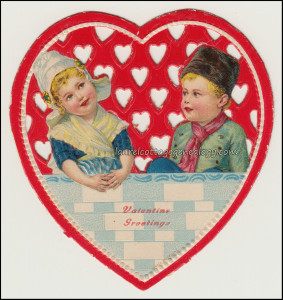 Dutch Girl and Boy Valentine