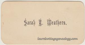 Sarah E. Weathers cc1