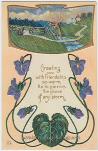 Art Nouveau Violets pc1