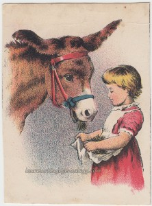 Little Girl And Cow c1