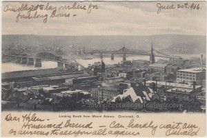View Of Cincinnati Ohio 1906 pc1