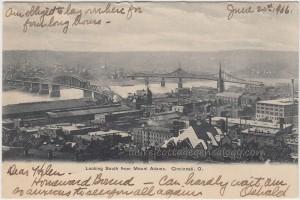 View Of Cincinnati Ohio 1906 pc1