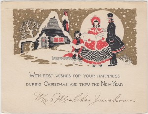 Best Wishes From Mr and Mrs Charles Jaichow c1