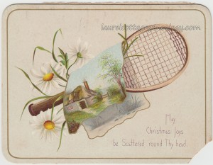 Tennis Lovers Christmas Card c1