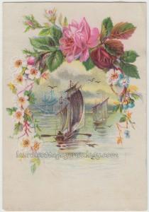 Sailboats And Roses c1