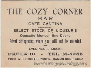 The Cozy Corner Bar tc1
