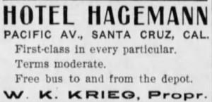 Hotel Hagemann Ad