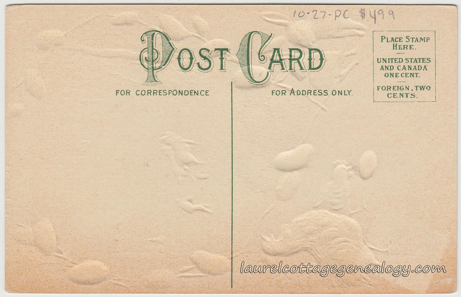 antique and vintage Easter postcards – Easter Postcard Template