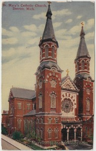 Saint Marys Catholic Church Detroit 1909 pc1