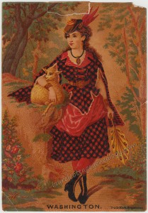 Scottish Lass Trade Card tc1