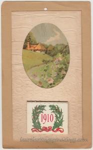 1910 Calendar Postcard pc1