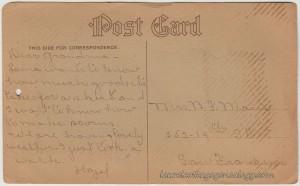1910 Calendar Postcard pc2