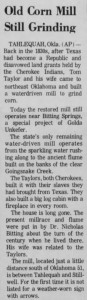 Old Mill article 1