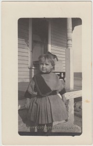 Little Girl On Porch Steps pc1