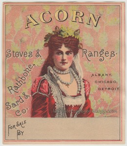 Acorn Stoves & Ranges Trade Card tc1