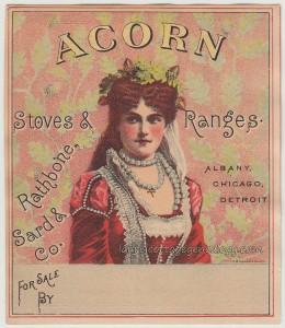 Acorn Stoves & Ranges Trade Card tc1