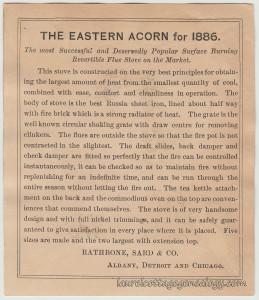 Acorn Stoves & Ranges Trade Card tc2