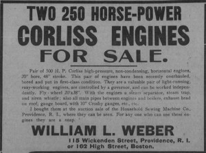 Corliss Engines Ad