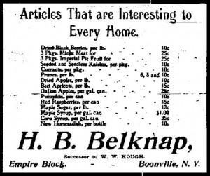 HB Belknap Ad