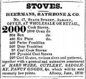 Heermans Rathbone & Co Ad 1830