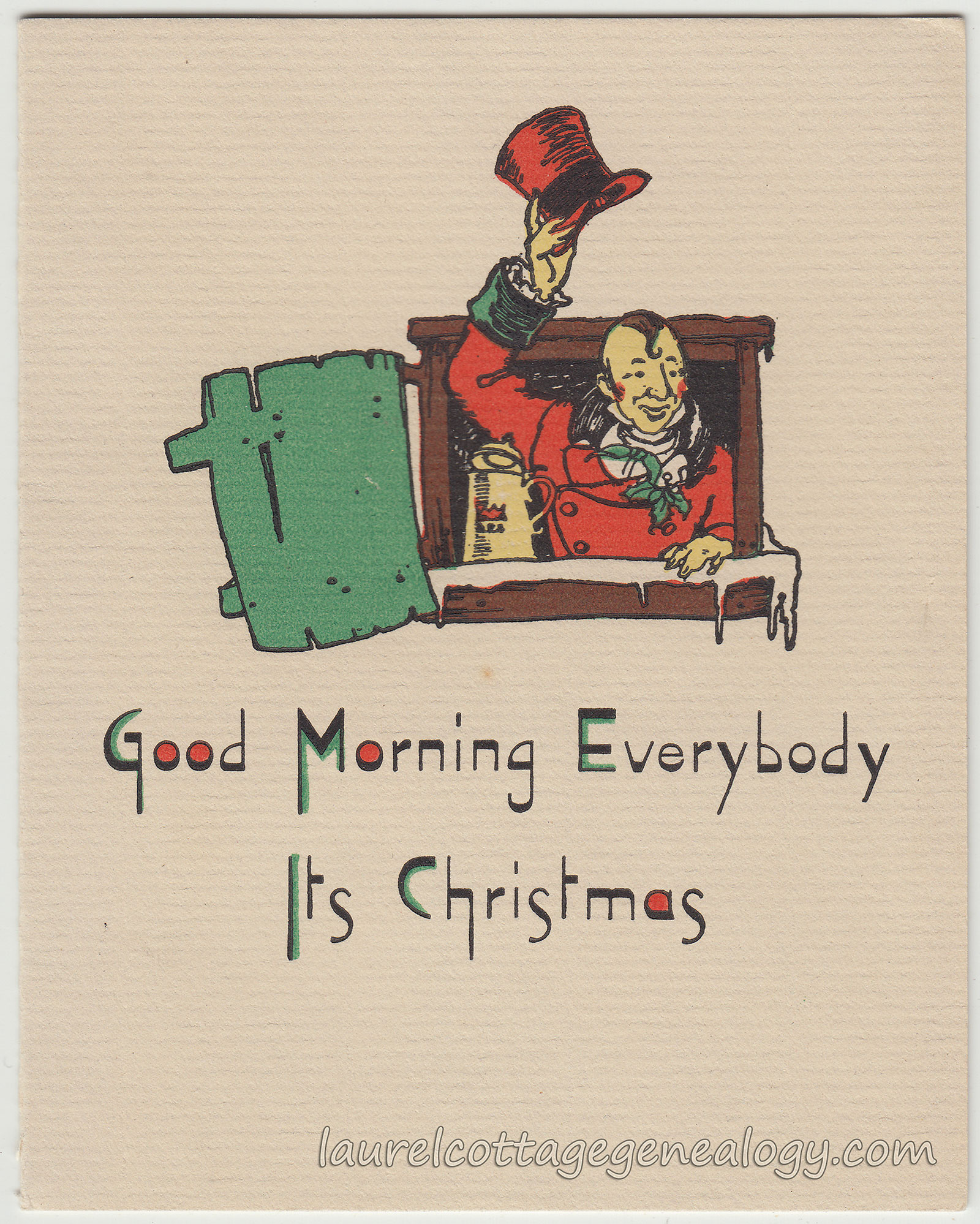 Good Morning All And Sundry : Antique and vintage christmas cards laurel cottage genealogy
