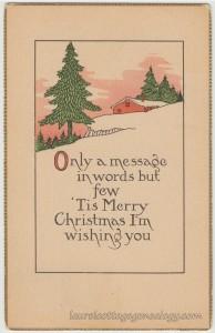 Merry Christmas To Miss Harriet Schoonmaker pc1