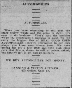 Canning & Vinton Ad