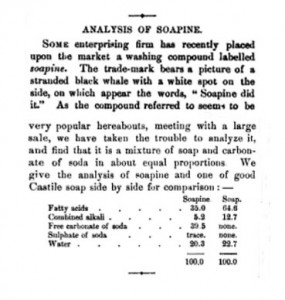 1881 Soapine Analysis