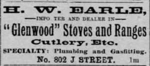 1887 Ad for Glenwood