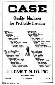 J I Case 1929 Ad