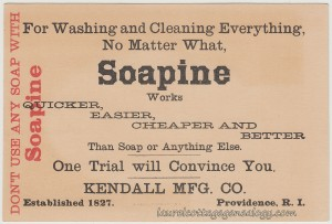 Soapine Trade Card tc2