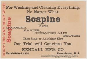 Soapine Trade Card tc2