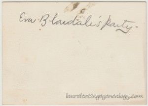 Eva Blasdale's Party Placecard April 3 1901 m2
