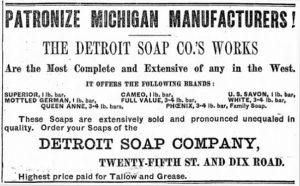 Detroit Soap Co Ad 10 Aug 1881