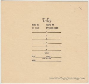 Latin Dancers Bridge Tally Set bc5