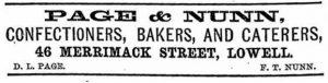 Page & Nunn Ad 1886