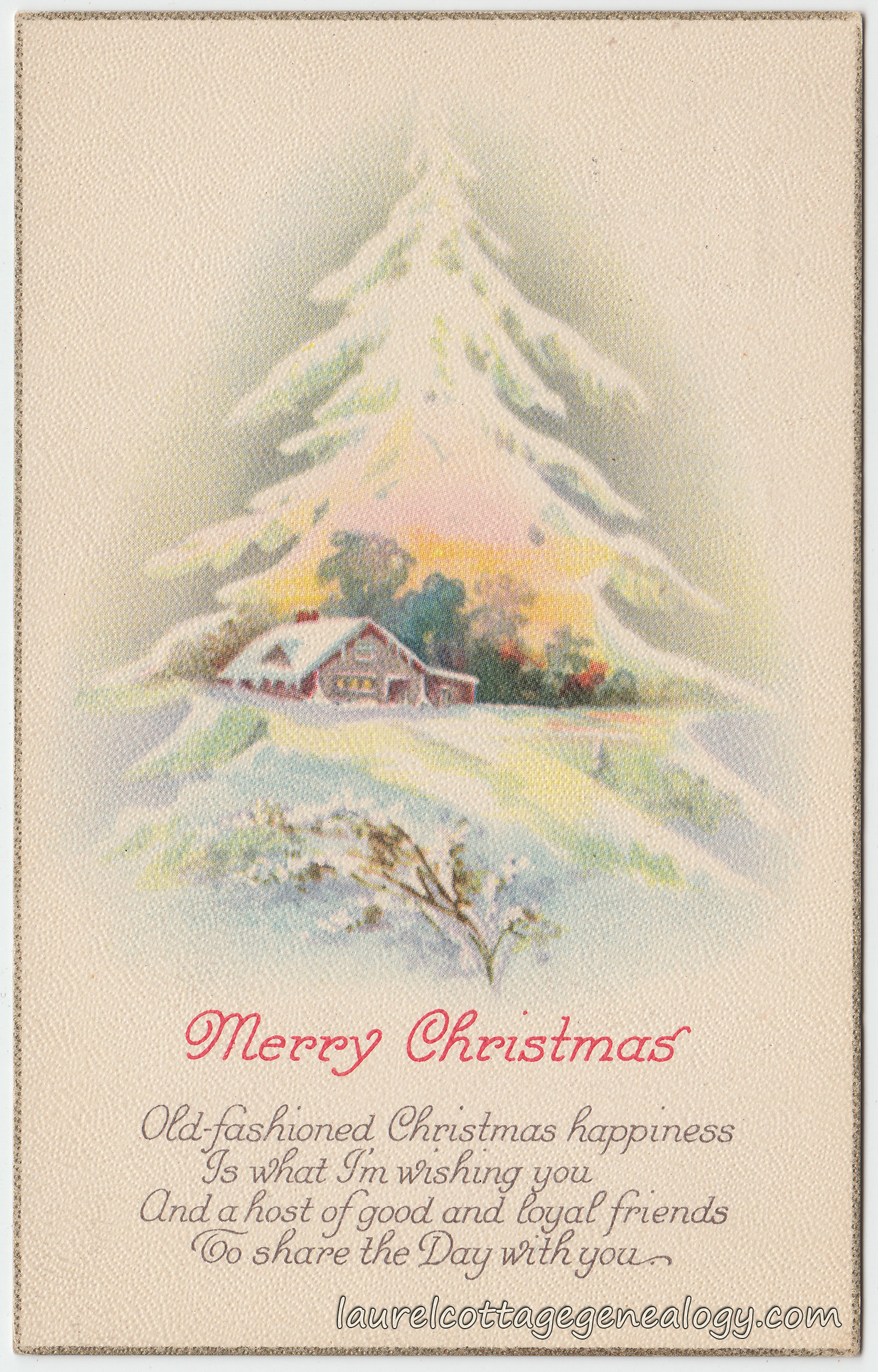 Old-Fashioned Christmas Happiness | Laurel Cottage Genealogy